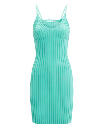 Shrunken Tank Dress, TURQUOISE, hi-res