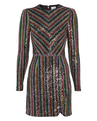 Starling Sequin Dress, RAINBOW STRIPE, hi-res