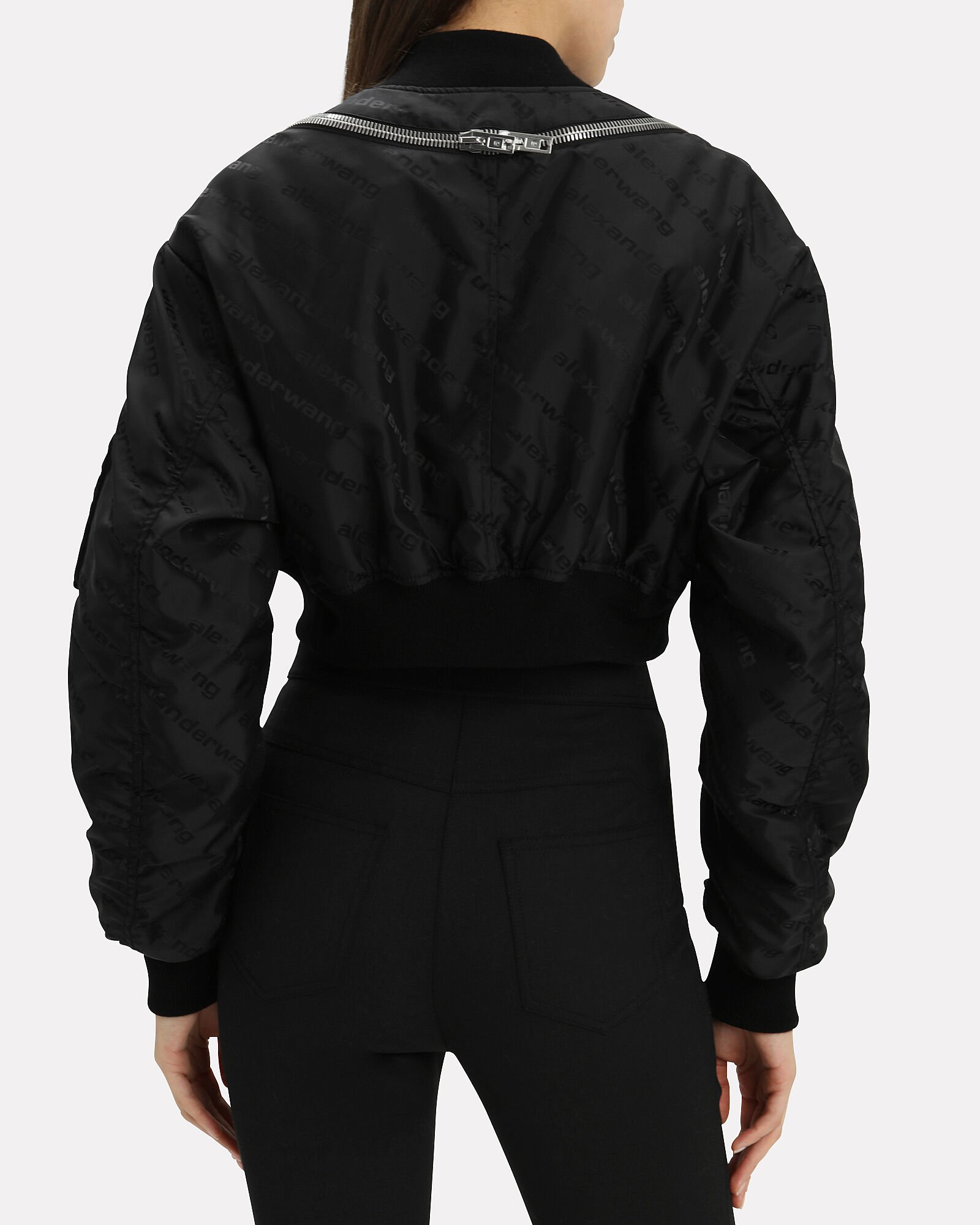 Logo Bomber Jacket, BLACK, hi-res
