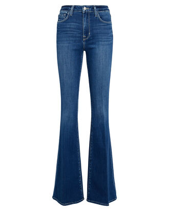 Bell High-Rise Flared Jeans, INDIGO DENIM, hi-res