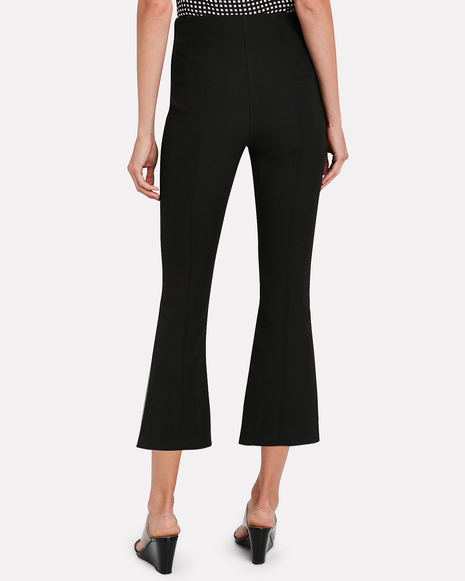 Drew High-Rise Cropped Trousers, BLACK, hi-res
