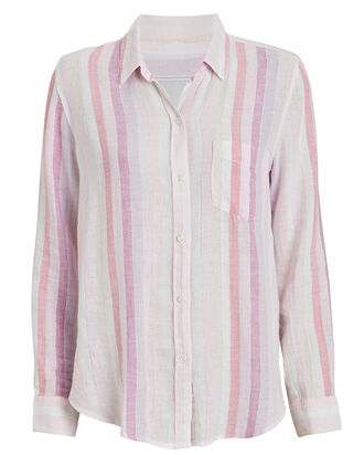 Charli Sahara Stripe Button Down, PINK/WHITE STRIPE, hi-res