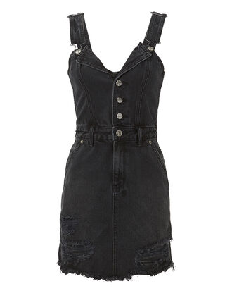 Palms Pini Denim Dress, BLACK, hi-res