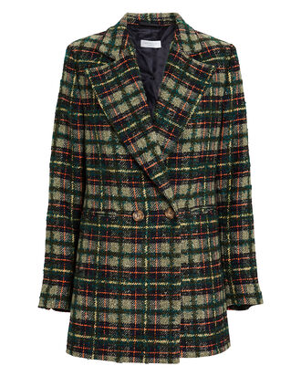 Dorsey Wool-Blend Plaid Blazer, GREEN, hi-res