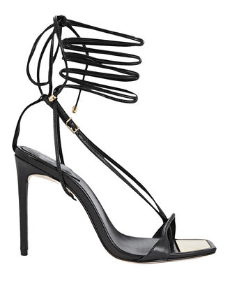 Vikki Ankle Wrap Sandals, BLACK, hi-res
