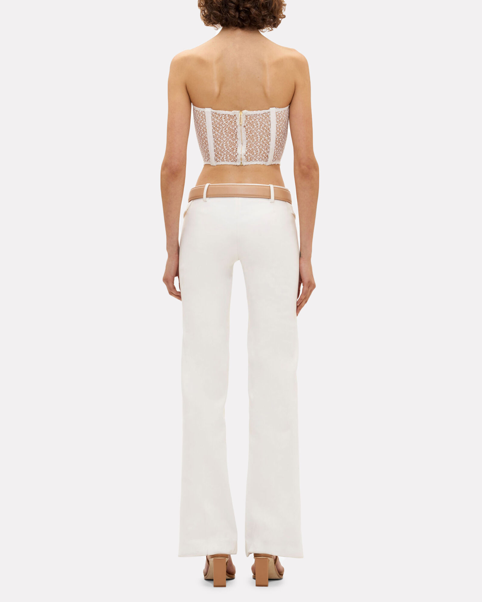 Strapless Lace Cargo Corset, IVORY, hi-res