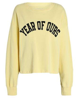 Collegiate Logo Crewneck Sweatshirt, YELLOW, hi-res