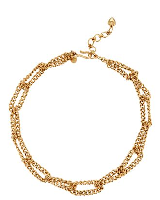 Linked Up Chain-Link Necklace, GOLD, hi-res
