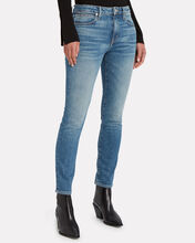 Leila Slim Straight-Leg Jeans, MEDIUM WASH DENIM, hi-res