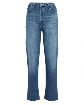 Jules Embellished Straight-Leg Jeans, MEDIUM WASH DENIM, hi-res