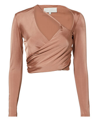Cutout Wrap Top, BLUSH, hi-res