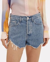 Carter Cut-Off Denim Shorts, MEDIUM WASH DENIM, hi-res