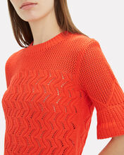 Mixed Weave Sweater, ORANGE, hi-res