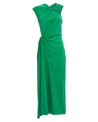 Beale Asymmetrical Cut-Out Dress, GREEN, hi-res