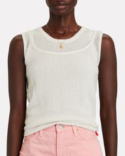 Hayes Cashmere Layered Tank Top, WHITE, hi-res