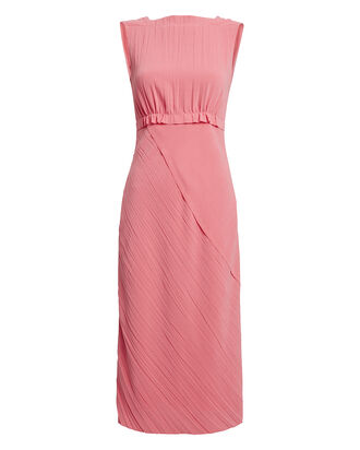 Crinkle Crepe Sleeveless Dress, PALE PINK, hi-res