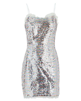 Cheyney Sequin Mini Dress, SILVER, hi-res