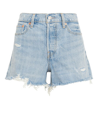 Wedgie Denim Shorts, LIGHT BLUE DENIM, hi-res