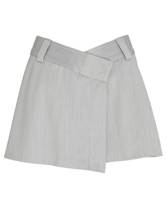 Xico Fold-Over Mini Skort, GREY-LT, hi-res
