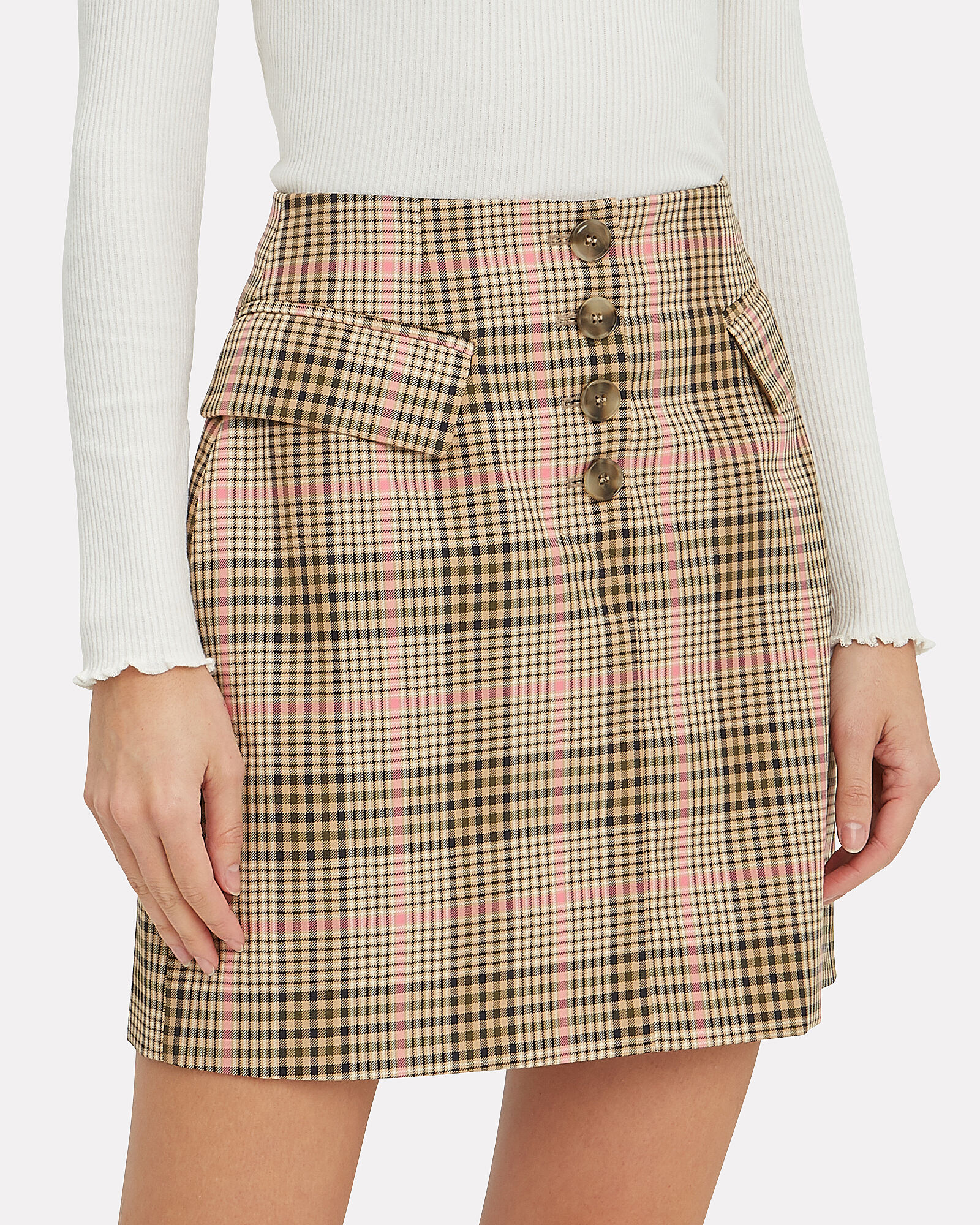 ece0a297ed274 ... Shani Checked Mini Skirt