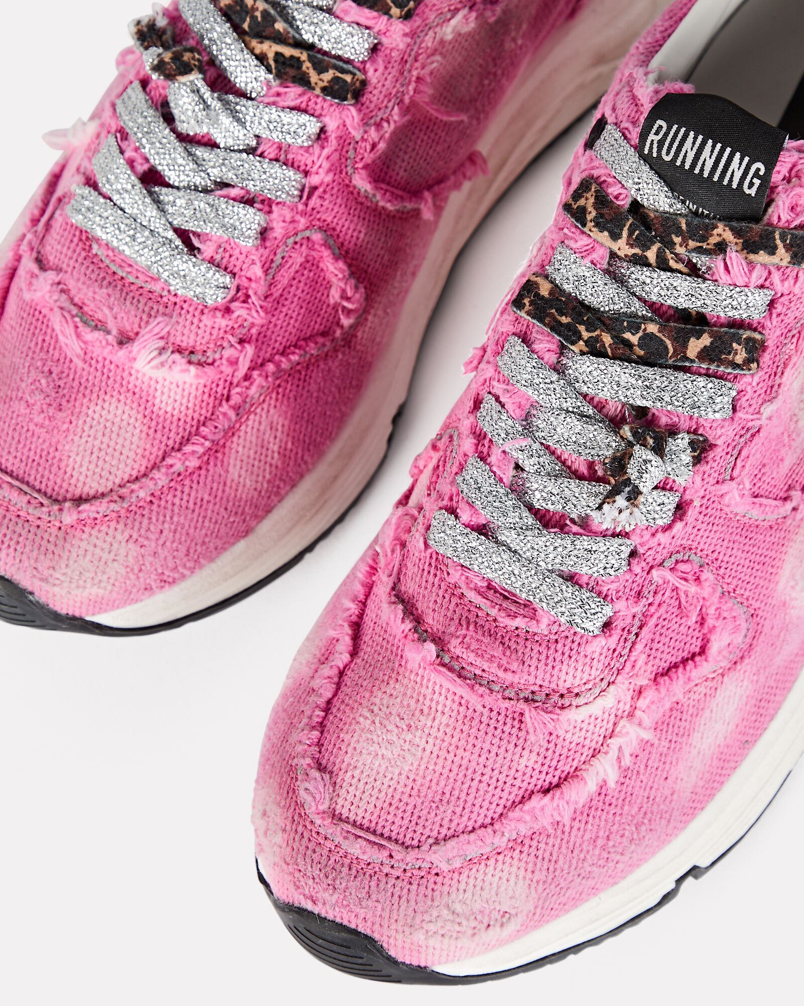 Running Sole Canvas Sneakers, PINK, hi-res