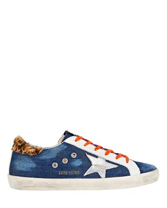 Superstar Denim Low-Top Sneakers, DARK WASH DENIM, hi-res