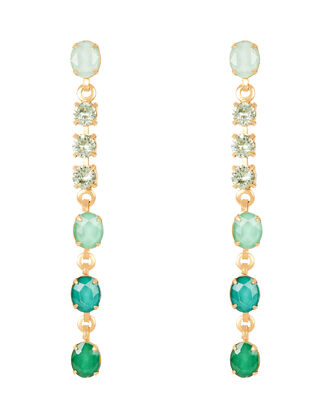 Jamie Ombré Linear Earrings, GREEN, hi-res