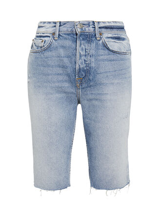 Beverly Denim Bermuda Shorts, LIGHT WASH DENIM, hi-res