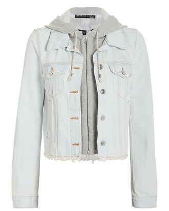 Cara Hooded Denim Jacket, LIGHT WASH DENIM, hi-res