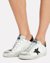 Superstar Glitter Star Low-Top Sneakers, WHITE/BLACK, hi-res
