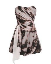 Draped Tie-Dye Bustier Dress, PINK-DRK, hi-res