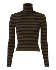 Lincoln Stripe Turtleneck Crop Top, PATTERN, hi-res