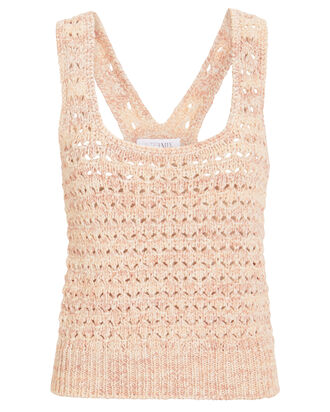 Salina Marled Sleeveless Sweater, PINK, hi-res