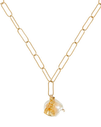 Tales of the Sea Pearl Necklace, GOLD, hi-res