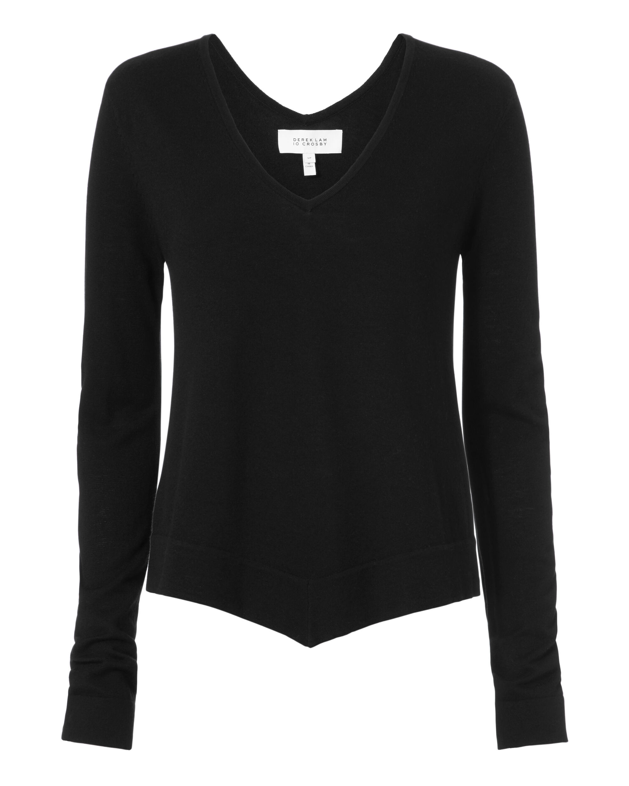 Asymmetric Pullover Sweater, BLACK, hi-res