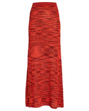 Monse Space Dyed Knit Maxi Skirt, RED, hi-res