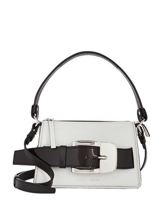 Small Buckle Zip Bag, BLACK/WHITE, hi-res