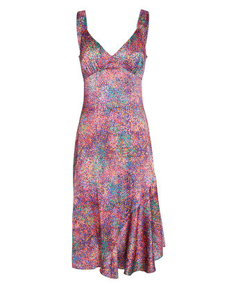 Passion Floral Silk Midi Dress, , hi-res