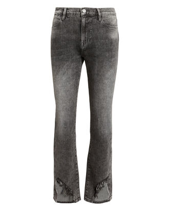 Le High Frayed Jeans, BLACK FADED DENIM, hi-res
