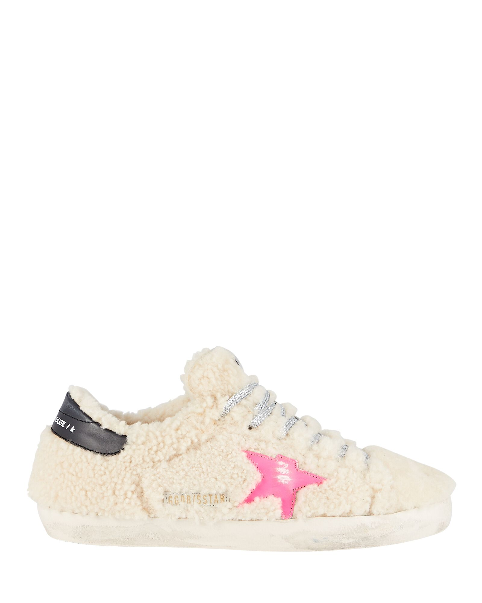 Superstar Shearling Low-Top Sneakers, WHITE, hi-res