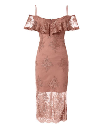 Octavia Lace Pencil Dress, BLUSH, hi-res