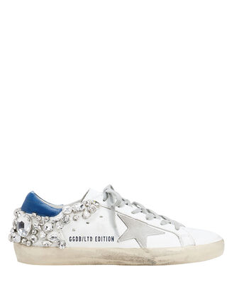 Superstar Crystal Embellished Low-Top Sneakers, WHITE, hi-res