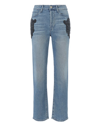 Burke High-Rise Beaded Boyfriend Crop Jeans, DENIM, hi-res