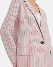 Striped Oversized Blazer, PINK, hi-res