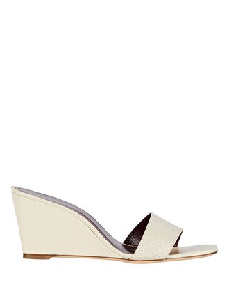 Billie Leather Wedge Sandals, IVORY, hi-res