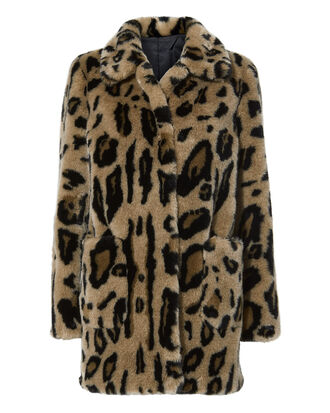 Alexa Leopard Faux Fur Coat, MULTI, hi-res