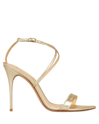 Smart Cocktail Stiletto Sandals, GOLD, hi-res