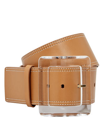 Corin Leather Belt, BEIGE, hi-res