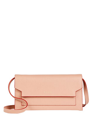Bellows Crossbody Wallet Bag, PINK, hi-res