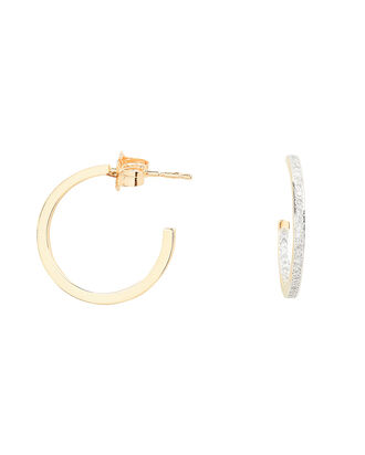 Diamond Hoop Earrings, GOLD, hi-res
